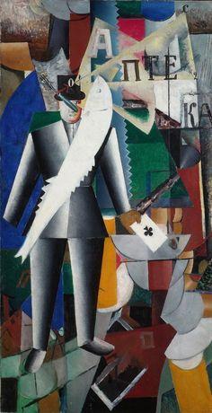 Kazimir+Malevich+-+The+Aviator,+1914
