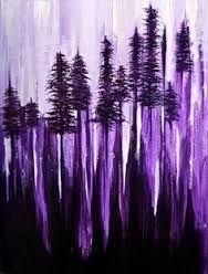 Purple pines