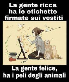 """""""Mi piace"""": 388, commenti: 15 - Occhi Randagi (@occhirandagi) su Instagram: """"True story! #occhirandagi #volontariato #bari #puglia #psicopatiche #animali…"""" Verona, Cat Wine, Italian Quotes, Magic Words, Pinterest Photos, Happy People, I Love Dogs, True Stories, Animals And Pets"""