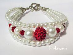 BBM Kerámia Ékszer Pearl Necklace, Beaded Bracelets, Pearls, Jewelry, Fashion, String Of Pearls, Moda, Jewlery, Jewerly