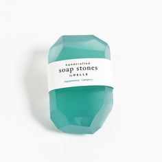 Soap Stones by PELLE: Aquamarine/Camphor Stone 5oz
