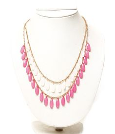 Carry this with your white Kurti or plain white Shirt to transform your look! Drop Necklace, Beaded Necklace, Plain White Shirt, Neck Piece, Necklace Online, Kurti, Pink White, Stuff To Buy, Accessories
