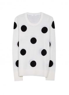 Polka Dot Sweater / Also available in black with white dots