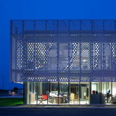 PAD creates facade for boat company headquarters using HI-MACS