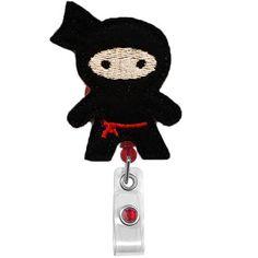 Black Ninja  Name Badge Holder  Nurses Badge Holder  by 868shop, $6.00