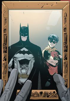 Jason Todd still has the picture. Batman and Robin. Bruce Wayne and jason Todd. Red Hood and the Outlaws Rebirth Robin Comics, Batman Robin Meme, Batman And Robin Movie, Nightwing, Batgirl, Catwoman, Joker Batman, Son Of Batman, Character Illustration