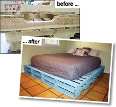 Instructions to make a queen sized pallet bed frame!!!