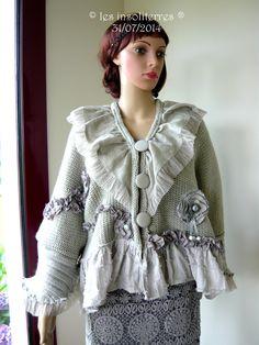 veste manteau de créateur en lainage design unique et original : Manteau, Blouson, veste par les-insoliterres