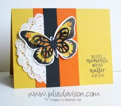Stampin' Up! Watercolor Wings card for Stamp of the Month Club Kit #stampinup www.juliedavison.com