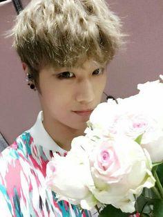 Exo-Mitglied datiert eine rosa