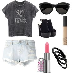 Summer is Near by madelinelavalle on Polyvore featuring polyvore fashion style IRO Furla Yves Saint Laurent NARS Cosmetics