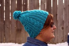 Free Knitting Pattern - Hats: Easy Cable Ski Hat