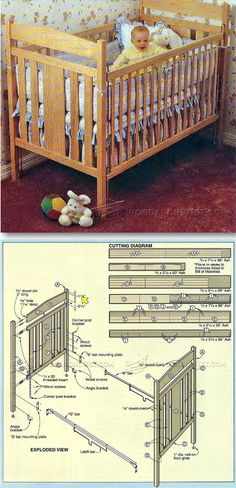 Baby Crib Plans - Children's Furniture Plans and Projects | WoodArchivist.com