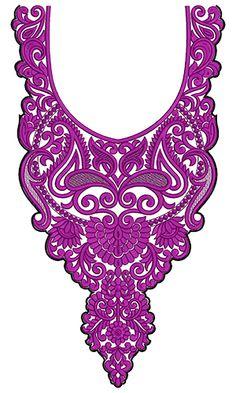 9746 Neck Embrodery Design