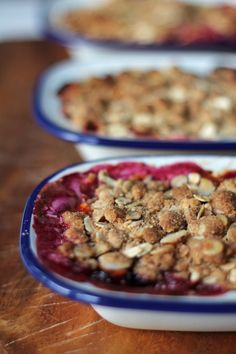 A recipe for Tamarillo and Almond Crumble. Soft, tangy tamarillos and apples are topped with crunchy spiced almond and oat crumble. Brown Betty, Winter Desserts, Crumble Topping, Larder, Sweet Bread, Delicious Desserts, Cake Recipes, Sweet Tooth, Almond