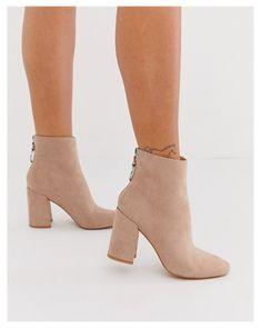 London Rebel high block heel boots in mink | ASOS #block #heel #boots #blockheelboots London Rebel high block heel boots in mink | ASOS