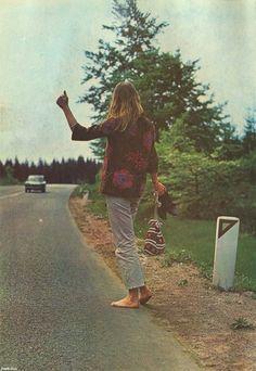 Barefoot hitchhiker #bohemian