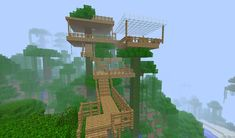 cool tree houses in minecraft Minecraft Houses Blueprints, Minecraft Plans, Minecraft House Designs, Cool Minecraft Houses, Minecraft Tutorial, Minecraft Crafts, Minecraft Buildings, Minecraft Stuff, Minecraft Jungle House
