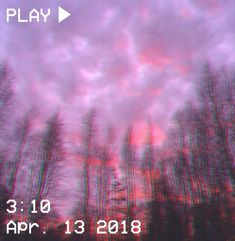 M O O N V E I N S 1 0 1 #vhs #aesthetic #glitch #sunset #purple #pink #trees #clouds