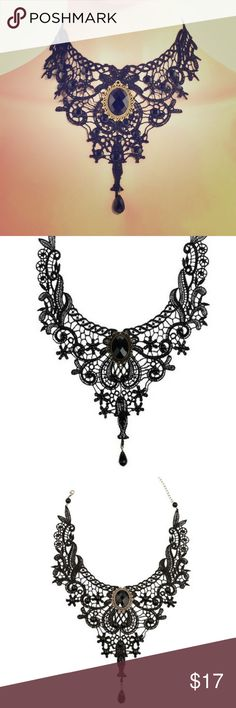 Vintage/ Victorian choker Gorgeous black lace choker. Very goth/ punk. Lots of compliments on this choker Jewelry Necklaces