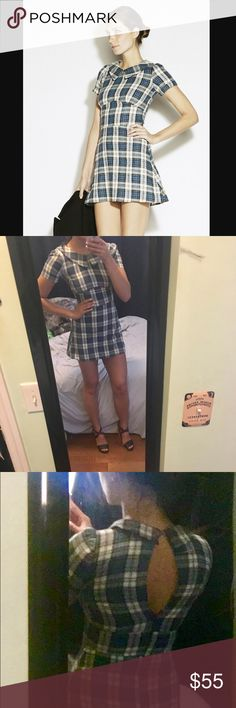 Reformation Plaid mini dress Super cute and flirty Ref dress! In perfect brand new condition, this plaid, schoolgirl-esq dress will definitely have you turning heads! The flattering mid seam and short hemline looks great with sneakers or with a pair of cute sandals or boots and a leather jacket Reformation Dresses Mini