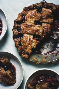 strawberries aren't the only thing that pairs well with rhubarb. Check out this blackberry rhubarb pie from apt 2b baking co.