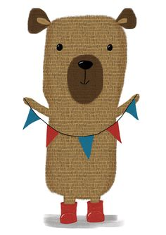 Bear created for Wise Books, a charity secondhand bookshop run by Family Support Work (FSW). Helping Families in Sussex.