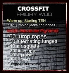 Crossfit Friday!