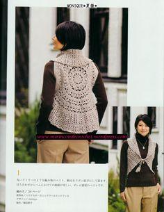 Otro chaleco circular….color supercombinable !!! | Mi Rincon de Crochet