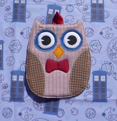 One Doctor Who Owl Hot Pad Eleventh Doctor por Timestitcher