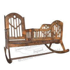 Take a look at this traditional wooden rocking chair & crib combo available at Colonial Classics. This piece of furniture combines both a rocking chair & crib in one.