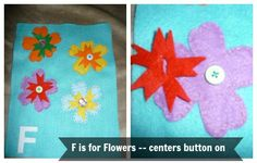 Quiet Book/ Felt Book - F is for Flowers
