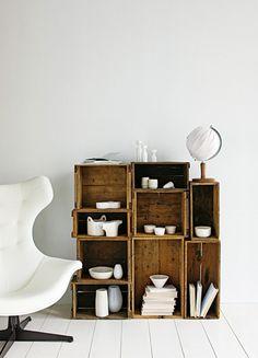 white + wood crates