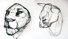 Artist David Oliveira (previously) works with wire in an unconventional way by cutting and twisting the material into sculptures that could be mistaken for 2D sketches. Despite the apparent difficulty of shaping wire into a recognizable form, Oliveira manages to achieve uncanny proportions of his an