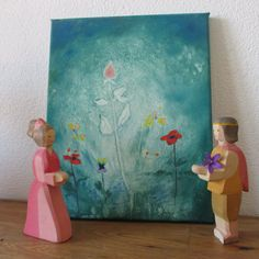 So Romantic!!! #Waldorf #art. Engagement gift. #Romantic #gift for her. Pink Rose. Original oil Painting hand painted by #ClaudiaNanniFineArt #wallArt #italiasmartteam