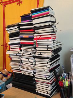 The Moleskine Tower 2013 (stacked) by Lost in Scotland, via Flickr