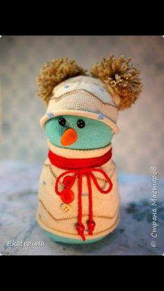 Exemple 1 de Bonhomme de neige avec chaussette