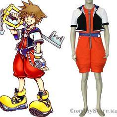 Kingdom Hearts Sora Cosplay Costume on sale