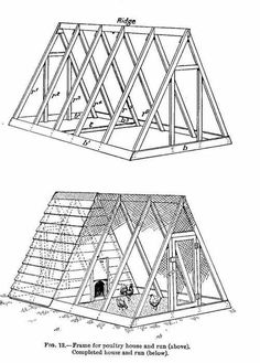 Chicken Coop - plan de poulailler en bois Plus Building a chicken coop does not have to be tricky nor does it have to set you back a ton of scratch. A Frame Chicken Coop, Backyard Chicken Coops, Building A Chicken Coop, Diy Chicken Coop, Chickens Backyard, Chicken Barn, Chicken Houses, Chicken Feeders, Small Chicken