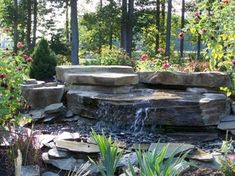 An easy to install DIY pondless waterfall. Installs in less than four hours. This is our smallest pondless waterfall kit. Beautiful and with a great sound. Diy Pondless Waterfall, Rock Waterfall, Fountains For Sale, Garden Fountains, Water Fountains, Mailbox Landscaping, Backyard Landscaping, Landscaping Ideas, Backyard Ideas