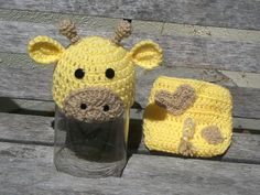 Giraffe Hat and Diaper Cover by NewArrivalsByStef on Etsy, $25.00