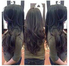 Long Layered Hair Wavy, Haircuts For Long Hair With Layers, Haircuts Straight Hair, Long Layered Haircuts, Haircut For Thick Hair, Long Hair Cuts, Layered Hairstyles, Short Hair, Wedding Hairstyles