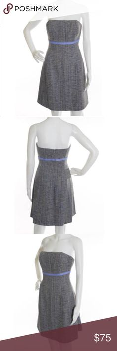 """Shoshanna silk """"tweed"""" multicolor strapless dress Gorgeous dress, excellent pre-loved condition. Completely lined, side zipper and hook closure. Interior boning.  Approx 28"""" bust, 26"""" waist, 27"""" length. ✅offers❌trades/PP💰make an offer on bundles Shoshanna Dresses Strapless"""