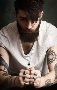 Studio shoot with model Chris John Millington styling jewellery by Georgia Wiseman. Beard Styles For Men, Hair And Beard Styles, Hair Styles, Boys Beard Style, Best Undercut Hairstyles, Men Undercut, John Millington, Chris John, Trendy Mens Haircuts