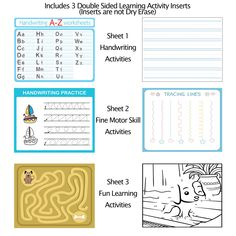 Magnetic Dry-Erase Activity Pockets with Inserts (3 Pack)