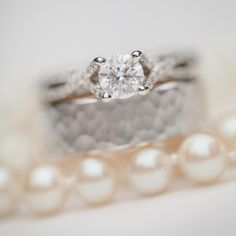 Wedding bands and ring make our heart swell. Love how unique each each and every ring is that we see! . . . . . . . #weddingbands #weddingrings #rvaweddings #williamsburgweddings #pearls #diamondsareagirlsbestfriend #richmondweddings #strousephotography #strousephoto #rvaweddingphotographers #richmondweddingphotographers #blingbling #heputaringonit