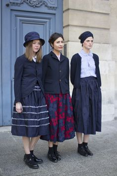 people wearing comme des garcons