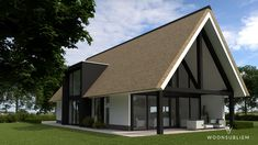 schuurwoning rieten kap risaliet overdekt terras Style At Home, Barn House Conversion, 2 Storey House Design, My Ideal Home, Cottage Exterior, Thatched Roof, House Extensions, Cottage Homes, House Front
