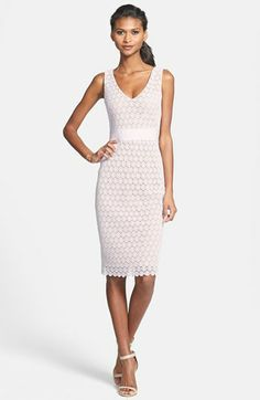 Bailey 44 'Tippi' V-Neck Lace Sheath Dress available at #Nordstrom