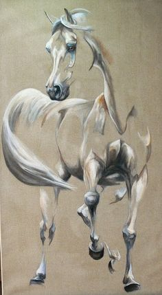 peinture de cheval- majesté Plus